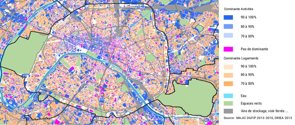 Mixité entre surfaces affectée aux logements et aux locaux d'activité